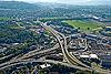 Foto 126: A1- Autobahn-Verzweigung Bern-Wankdorf.