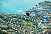 Foto 319: Ein Heissluftballon schwebt über der Stadt Luzern..