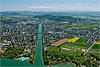 Foto 333: Nidau bei Biel mit seinem Nidau-Büren-Kanal..