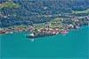 Foto 247: Iseltwald am Brienzersee mit seiner auffälligen Wasserfarbe..