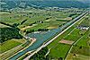 Foto 372: Der Linthkanal mit Renaturierungsbucht..