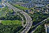 Foto 320: Autobahn A1 und A4 bei Opfikon ZH.